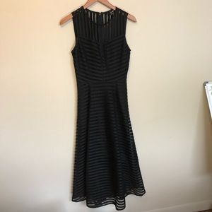 Gianni Bini black midi dress.